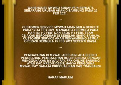 Kini Cas 0.3% – RM1 Maksimum Sudah Tiada Dikenakan ke Untuk MyWau Pay?